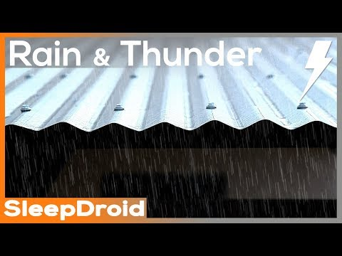 ►10 hours of Real Rain and Thunder on a Tin Roof. HD video, actual metal roof rain. Som da chuva
