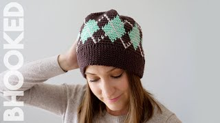 Argyle Crochet Hats For The Entire Family