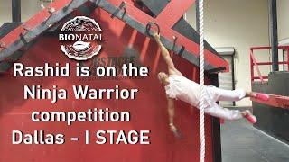 Rashid BioNatal is on the Ninja Obstacles