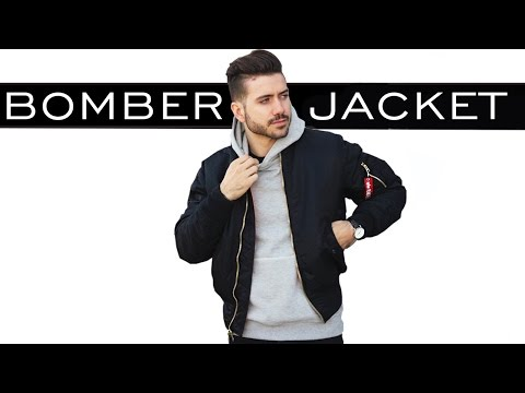 HOW TO STYLE A BOMBER JACKET   MEN'S FASHION   ALEX COSTA