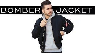HOW TO STYLE A BOMBER JACKET | MENS FASHION | ALEX COSTA