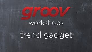 Learn how to use the trend gadget in groov