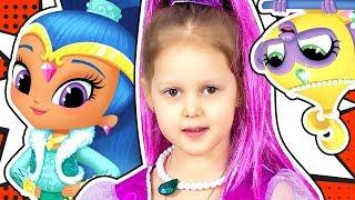 ШИММЕР И ШАЙН Волшебная Лампа и Парк развлечений для Джиннов Shimmer & Shine Kids Video