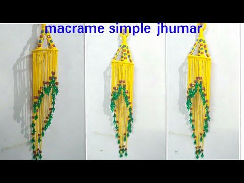 How to make macrame simple jhumar.