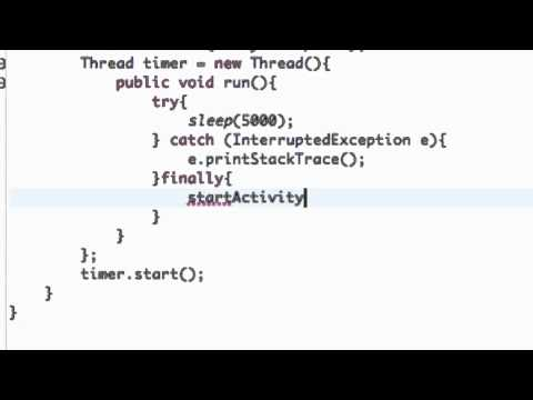 Android Application Development Tutorial - 15 - How to Start a New Activity via Intent