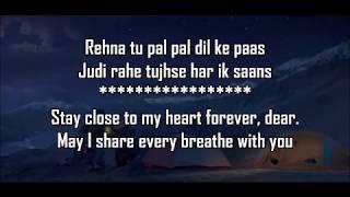 Pal Pal Dil Ke Paas Title Lyrics With Translation   - YouTube