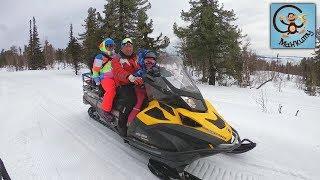 Дети и снегоход, снежные машины. МанкиТайм в Шерегеш