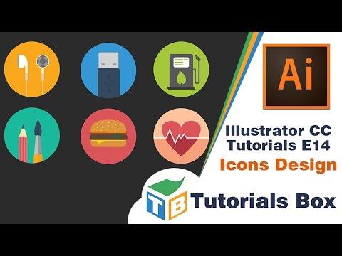 Illustrator CC Tutorials | E014 | Icons Design