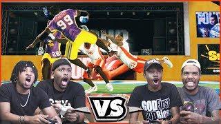2v2 Wiggle Stix Challenge! HIGH ACTION Football! - NFL Tour Gameplay