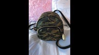 Whats In My Mini Steve Madden Camo Bag.