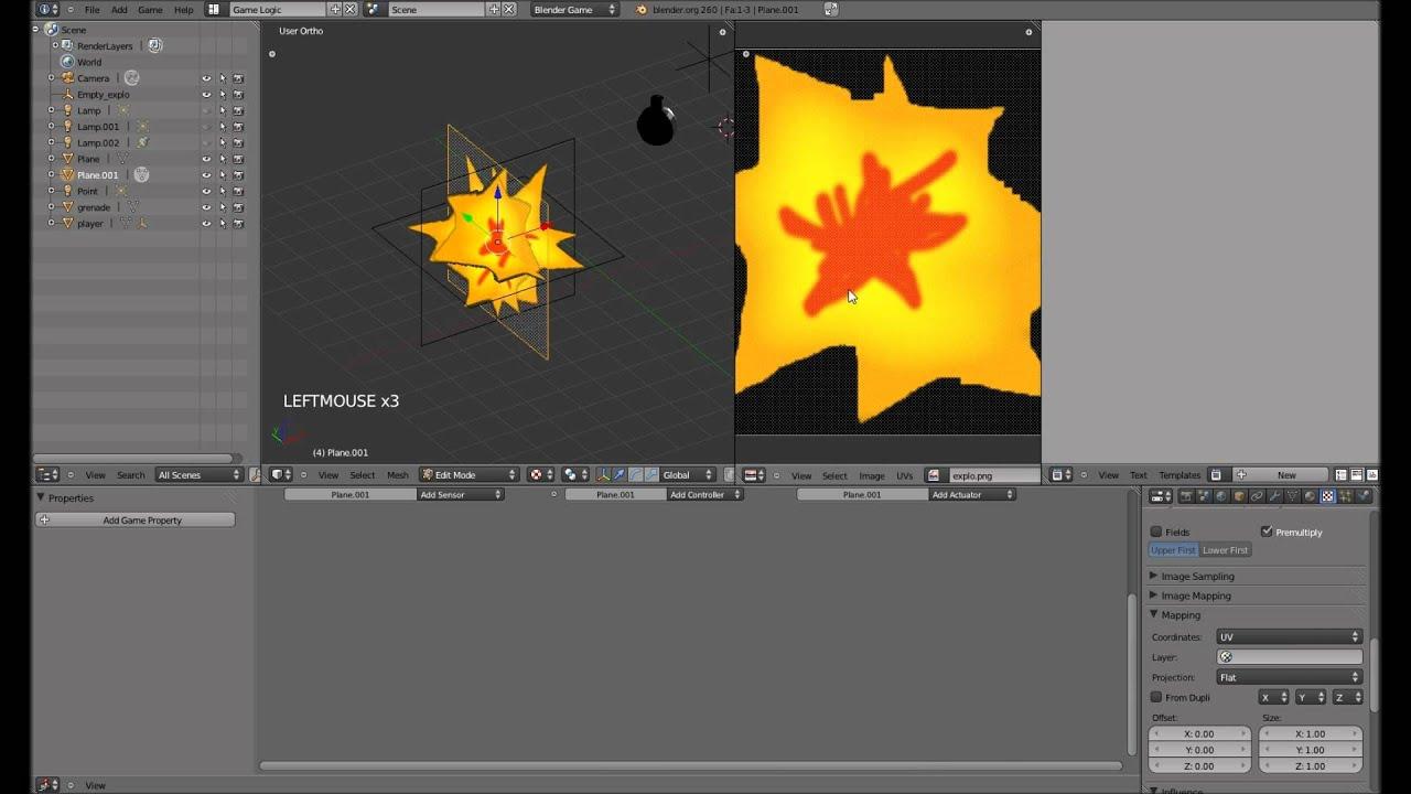 Handgranate / Grenade - Blender 3D Game Engine Tutorial