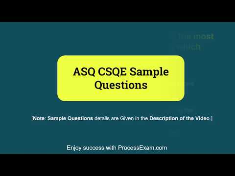 Get Ready to Prepare for ASQ Software Quality Engineer CSQE ...