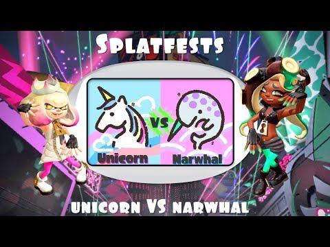 🔴[LIVE] Splatoon 2 SPLATFEST [Team UNICORN Vs. Team NARWHAL]
