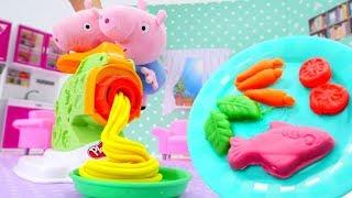 Peppa Pig Deutsch - Peppa Wutz knetet mit PlayDoh - Video mit Knete