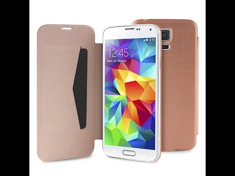 Foto Cover Puro Booklet Battery Case Samsung Galaxy S5, recensione