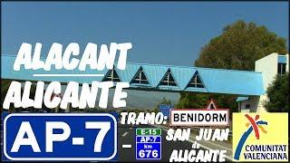AP-7 Alacant / Alicante , Autopista Del Mediterráneo , Benidorm / AP-7 Motorway , Spain.