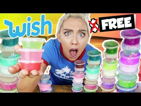 HOW I GOT FREE Slime From Wish.com! | Giant Wish Slime Smoothie!! | NICOLE SKYES