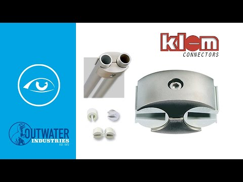 Super Klem Panel Connector   Body with Inserts for 1/8in Tubing   For Signage and Partitions
