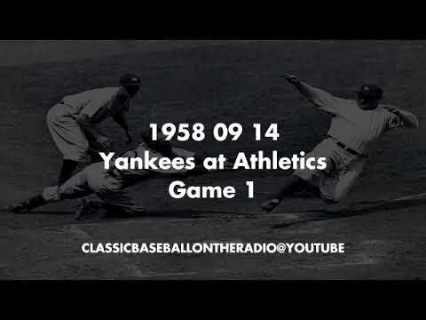 1958 09 14 Yankees at Athletics Game 1