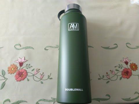 Banggood 1500ml Portable Vacuum Insulated Water Bottle - Green