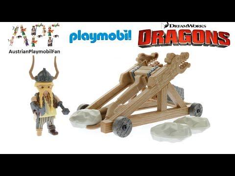 Vidéo PLAYMOBIL Dragons (DreamWorks) 9245 : Gueulfor avec catapulte