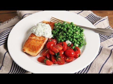 Crispy Salmon with Zucchini Yogurt Sauce | Episode 1164