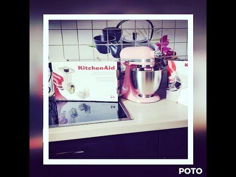 KitchenAid Mini Küchenmaschiene Rosa Vorstellung unboxing