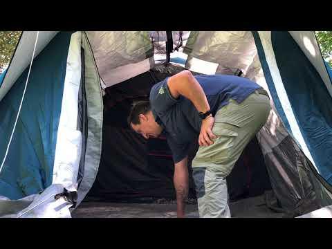 Decathlon Aufblasbares Zelt Familienzelt AIR SECONDS 6.3 FRESH&BLACK FÜR 6 PERSONEN