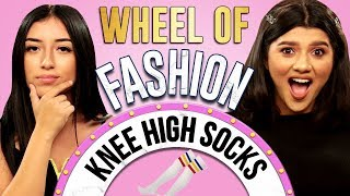KNEE-HIGH SOCKS Challenge?! Wheel of Fashion w/ Shany & Eileen