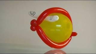 Crear animales con globos, un pez