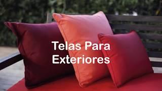 """7 Colores Lisos en Tela """"Agora"""" Para Exteriores y Terrazas"""