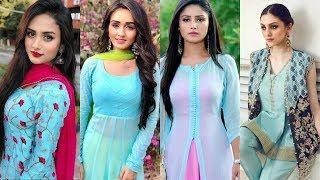 Sky Blue Colour Combination For Dresses/Kurtis/Suits||Punjabi Suit Colour Contrast Ideas