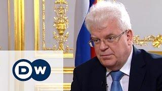 Постпред России при ЕС Владимир Чижов в жестком интервью DW - Conflict Zone на русском