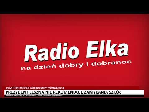 Wideo1: Prezydent Leszna nie rekomenduje zamykania szkół