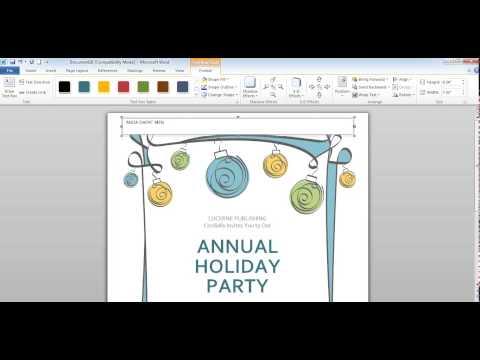 Video Cara membuat undangan di Microsoft word 2010