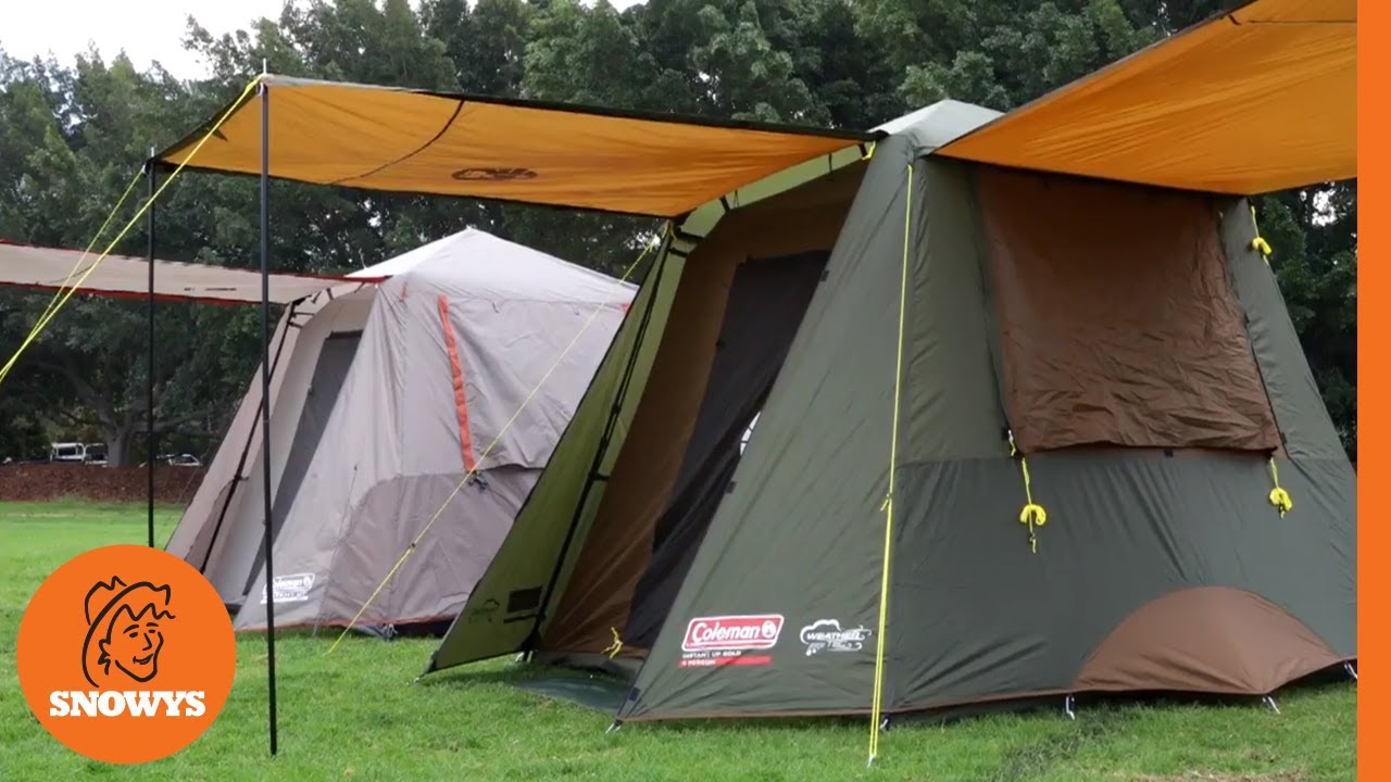 292afe78664 Coleman Instant Up Tents  Silver vs Gold   Watch video