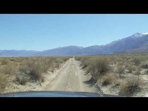 The sandy road into Warm Springs.