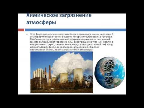 Заболевания, вызванные антропогенным загрязнением окружающей среды