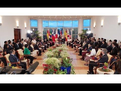 Presidente Daniel Ortega y Vicepresidenta Rosario Murillo reciben cartas credenciales de 11 embajadores acreditados en Nicaragua