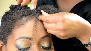 How to crochet knot free with Afro bulk hair