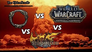 World of Warcraft vs Final Fantasy XIV vs The Elder Scrolls Online !!!