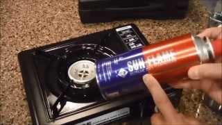 How to use a portable butane stove