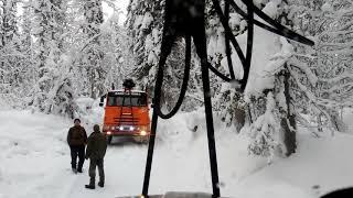 Мороз -38 Поставил вольтметр Дорога в Южаниново Урал лесовоз