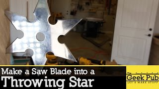 Make a Throwing Star from a Saw Blade