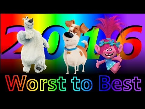 Worst to Best: Animated Films of 2016 (Part 1)