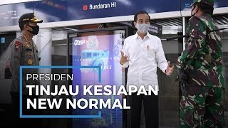 Jelang Penerapan New Normal, Presiden Jokowi Datangi Stasiun MRT Bundaran HI