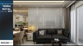 Mẫu thiết kế nội thất căn hộ Terra Royal 86m2 - Quận 3