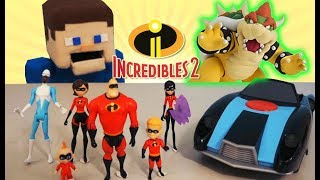 Incredibles 2 Movie Toys VS. BOWSER! FIGHT Action Figures Unboxing Review Mario Full Trailer