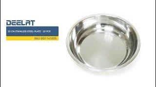 20 cm Stainless Steel Plate - 20 pcs     SKU #D1141835