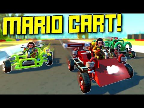 Epic Mario Kart Themed Race Course!  - Scrap Mechanic Multiplayer Monday